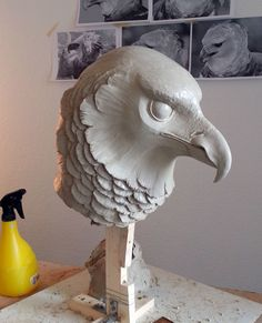 David Moreno, via Behance Easy Clay Sculptures, Bird Sculpture, Animal Sculptures, Ceramic Animals, Clay Animals, Ceramic Art, Animal Statues, Ceramics Projects, Animal Heads