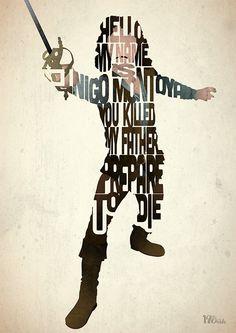 Inigo Montoya typography art print poster based by 17thandOak