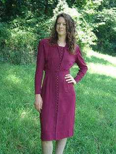 M/S 40's Dress Vintage Grosscraft by SerendipityCircus on Etsy
