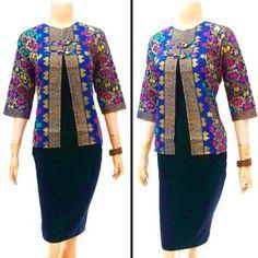 Image result for motif batik seragam kantor Blouse, Image, Tops, Women, Fashion, Moda, Women's, Fashion Styles, Blouses