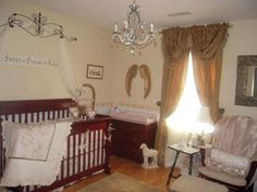 Victorian Angel Nursery: I knew I wanted a Victorian Angel Nursery for our daughter's nursery as soon as we found out we were having a girl.  I wanted it to be elegant and sweet