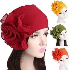 e hats for women Cheap Skullies & Beanies, Buy Directly from China Suppliers:Women's Hats Ladies bonnet femme Retro Big Flowers Hat Turban Brim Hat Cap Pile Cap elastic women's hats Enjoy Shipping Worldwide! q hats for women 1920s Headpiece, Fascinator Hats, Turban Hijab, Girl Baseball Cap, Kids Blouse Designs, Steampunk Top Hat, Denim Hat, Types Of Hats, Embroidered Caps