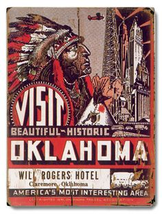 Visit Oklahoma Will Rogers Hotel Print / $39.99 / All Posters