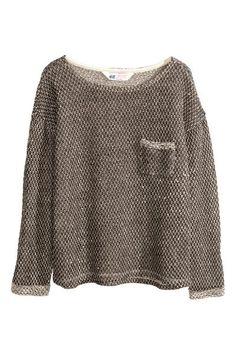 Melírovaný pulóver   H&M