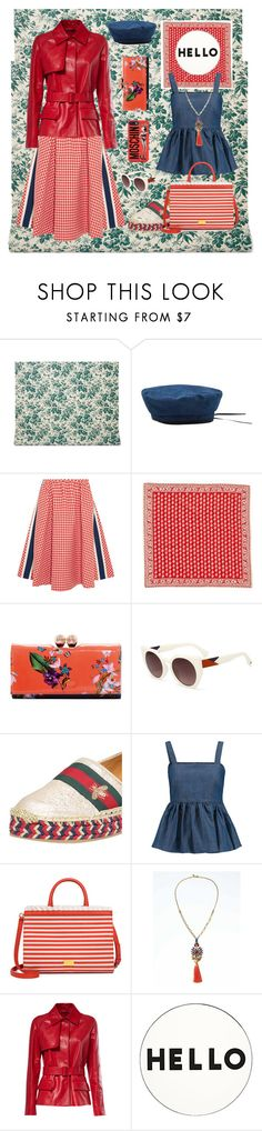 """""""wandering and chilling a bit"""" by secretstylistrome ❤ liked on Polyvore featuring Gucci, MANGO, Prada, Madewell, Ted Baker, CO, Boutique Moschino, Elizabeth Cole, Lisa Perry and Moschino"""