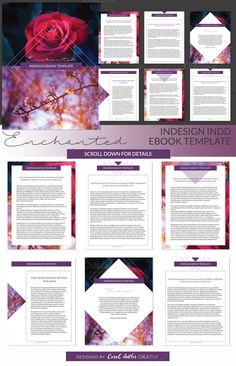 Enchanted Indesign Ebook Template by Coral Antler Creative on @creativemarket