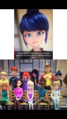 Miraculous ladybug - Marinette had a bun and no one noticed to my knowledge! She also had blue pants! i feel like adrien would have fell for mari like dis more she looks cute Miraclous Ladybug, Ladybug Comics, Marinette Et Adrien, Adrian And Marinette, Kids Shows, Tv Shows, Ladybug Und Cat Noir, Miraculous Ladybug Fan Art, Steven Universe