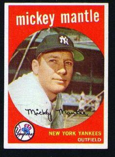 1959 Mickey Mantle Topps Baseball Card New York Yankees New York Yankees Baseball, Sports Baseball, Ny Yankees, Baseball Players, Baseball Stuff, Damn Yankees, Mlb Players, Football, Yankees Baby