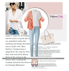 """Newchic I/15"" by amra-mak ❤ liked on Polyvore featuring Frame Denim, Bebe and newchic"
