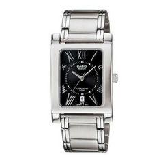 Casio Women's Core Silvertone Stainless Steel Quartz Watch with Black Dial Quartz Watch, Jewelry Watches, Women Jewelry, Stainless Steel, Womens Fashion, Silver, Accessories, Black, Core