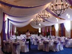 Marquee Look with purple organza segments by A Touch of Elegance, The Chapel, Mission Estate Winery, HAWKES BAY