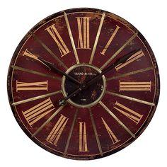 Kess InHouse Kess Original Oui Gold Metallic Wall Clock 12