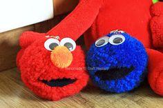 DIY IDEAS: Pom Pom Shaun The Sheep Elmo Cookie Monster
