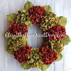 Thanksgiving Wreath  Autumn Wreath  Fall by TheDoorNextDoor