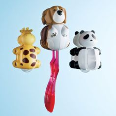 Animal Toothbrush Holder - contemporary - Kids Bathroom Accessories - The Container Store