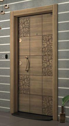 New flush door design modern ideas Wooden Front Door Design, Main Entrance Door Design, Wooden Front Doors, The Doors, Wood Doors, Entry Doors, Entrance Ideas, Door Ideas, Modern Entrance Door