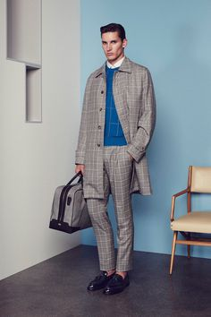 Brioni | Spring 2015 Menswear Collection | Style.com Like the sweater color complement to the plaid jacket.