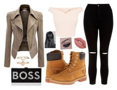 """❤️"" by rafia-19 ❤ liked on Polyvore featuring Timberland, New Look, Lime Crime, Milly and Accessorize"