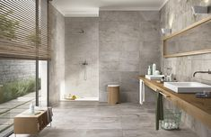 Find the bathroom flooring solution that injects your bathroom with the energy and style you're after. Outdoor Tiles, Outdoor Spaces, Lounge, Ikea Cabinets, Wall And Floor Tiles, Home Pictures, Cabinet Furniture, Beautiful Bathrooms, House Rooms