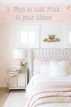 Black Gold Bedroom 3 Simple Ways to Add Pink to your Home - Randi Garrett Design Bedroom Design, Bedroom Makeover Before And After, Pink Bedroom Decor, Simple Bed, Simple Bedroom, Bedroom Decor, Elegant Home Decor, Feminine Bedroom, Room Decor