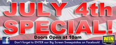 We're having special extended hours on Wednesday, July 4th! Come in to any of our stores at 10am and grab some great deals :)