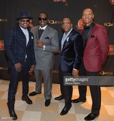 News Photo : Rickey Bell, Johnny Gill, Michael Bivins, and...