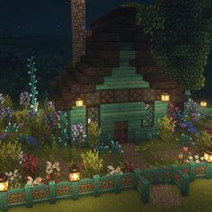 Simple Minecraft Houses, Minecraft Cottage House, Minecraft Barn, Minecraft Treehouses, Minecraft House Tutorials, Minecraft Room, Minecraft Plans, Amazing Minecraft, Minecraft House Designs