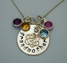 Sterling Silver Hand Stamped Grandmother or by TracyTayanDesigns, $49.95