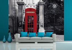 Czerwona Budka Telefoniczna - Londyn - fototapeta - 315x232 cm  Gdzie kupić? www.eplakaty.pl