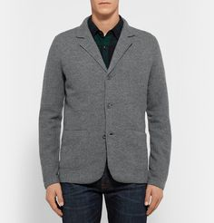 NN.07 Grey Wallace Slim-Fit Boiled Wool Blazer