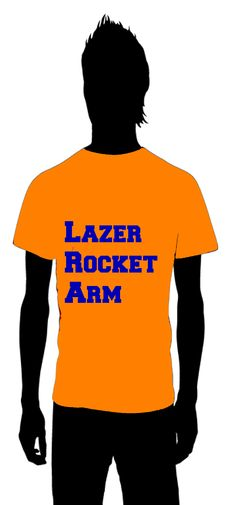 Lazer Rocket Arm  Peyton Manning  The Denver Broncos    for information on how to order email thoseplayertees@gmail.com
