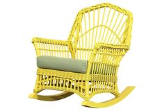 """Charleston Rocker on OneKingsLane.com   rattan   30""""w x 37""""d x 38""""h x 17""""seat ht   800.00 retail   299.00 OKL"""