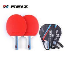 REIZ 2 Stars Table Tennis Racket Ping Pong Paddle Short Or Long Handle Shake-hand Table Tennis Racket For Match Training