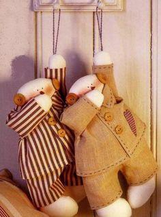 Тильда в пижаме - толстячек: выкройка куклы для шитья