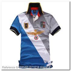 Aeronautica Militare Polo T-Shirt. Frecce Tricolor. Sky Blue color. NE118HS. Aeronautica Militare Men's Polo Shirts - Aeronautica Militare Polo Shirts & T-Shirts - trendy.to