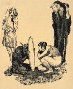 The art of Norman Lindsay Dark Fantasy Art, Dark Art, Arte Horror, Horror Art, Art Macabre, Art Sinistre, Art Sketches, Art Drawings, Art Du Croquis