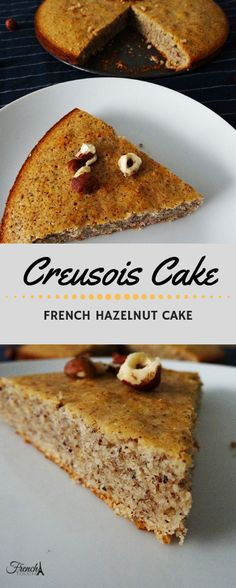 Creusois Cake This hazelnut cake is a delicious French specialty from the Creuse region. It& a very easy cake recipe and it& even better served with custard cream. Easy Cake Recipes, Sweet Recipes, Baking Recipes, Dessert Recipes, Uk Recipes, Hazelnut Recipes, Hazelnut Cake, Custard Cake, Chocolate Sweets