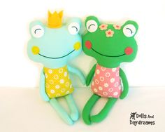 Frog Sewing Pattern PDF - Fairytale Prince. $10.00, via Etsy.