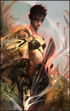 Furiosa!, Ross Tran on ArtStation at https://www.artstation.com/artwork/furiosa-bc5fedbd-c6e0-41be-b369-38a4248bc797