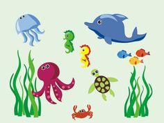 Aquatic Nursery Wall Decal Sea Ocean Wall by NurseryDecals4You.  https://www.etsy.com/listing/268481714/aquatic-nursery-wall-decal-sea-ocean?ref=shop_home_active_7