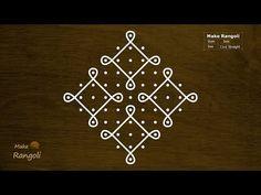 Design Discover Sikku Kolam with dots Rangoli Borders, Rangoli Border Designs, Rangoli Designs Diwali, Rangoli Designs Images, Rangoli Designs With Dots, Henna Designs Easy, Kolam Rangoli, Rangoli With Dots, Beautiful Rangoli Designs