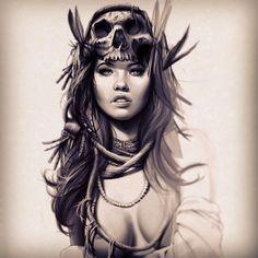Flashback | otro salto en el tiempo , recordando el mismo instante en el que boceto dio paso a una pieza única. #skull #girl #sullen #sullenclothing #tattoo #tenerife #tattooist #ink #inked #inkedmag #illustration #cg #color #california #beauty #black #shadow #draw #dead #vintage #retro #artcollective #arte #art #eye #la#losangeles