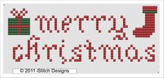 iStitch Designs; free Christmas sampler in cross stitch