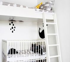 A Space for A New Addition I love this setup for a young one and a baby to share. This is so inspiring for mamas short on extra rooms or square footage. I just don't know how comfortable I am with that over my tiny baby!