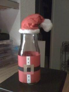 Santa Starbucks Bottle bottle crafts diy Santa Starbucks Bottle by - Cards and Paper Crafts at Splitcoaststampers Starbucks Bottle Crafts, Starbucks Frappuccino Bottles, Wine Bottle Crafts, Bottles And Jars, Glass Jars, Milk Bottles, Mason Jars, Diy Christmas Gifts, Holiday Crafts