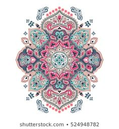 Can be used for textile, greeting card, coloring book, phone case print. Mandala Drawing, Mandala Art, Hamsa Symbol, Folk Print, Decoupage, Ethnic Patterns, Mandala Coloring, Vintage Ornaments, Paisley Pattern