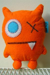 Little orange monster, made on request (from €15,-)