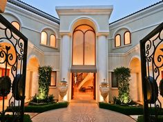 Mediterranean-style architecture mansion in Sandton, Johannesburg, Gauteng, South-Africa