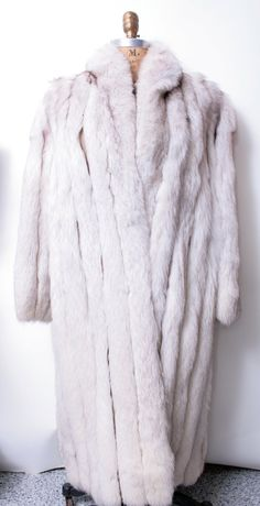 SALE REDUCED  Vintage Glamorous Silver Fox Fur Coat by thejunkhaus, $280.00