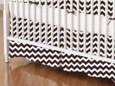 SheetWorld - Crib Skirt (28 x 52) - Brown Chevron Zigzag - Made In USA by Sheetworld, http://www.amazon.com/dp/B00CF2R8PQ/ref=cm_sw_r_pi_dp_N1xcsb0KAJT4T